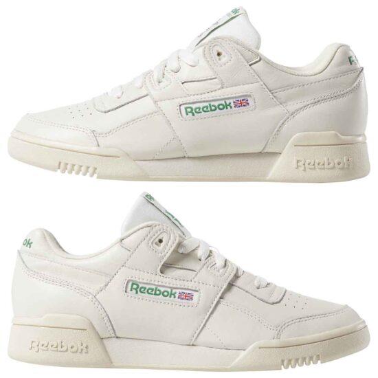 DV3735-Reebok Classic Workout LO Plus Shoes - Chalk