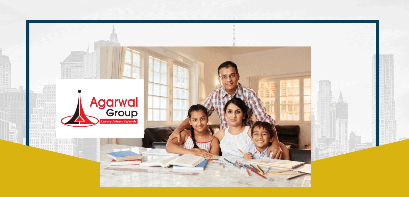A happy family dreaming about flat in Agarwal Froup