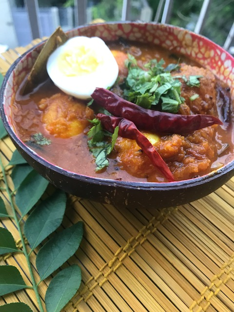 Andhra style egg curry