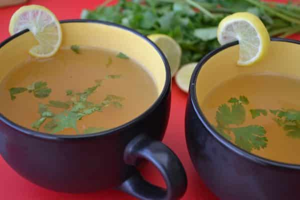Lemon and Coriander Clear Soup