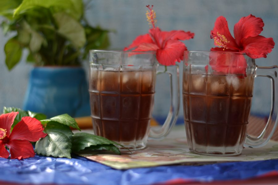 Hibiscus And Peppermint Herbal Tea/ Hibiscus and Peppermint Herbal Iced Tea