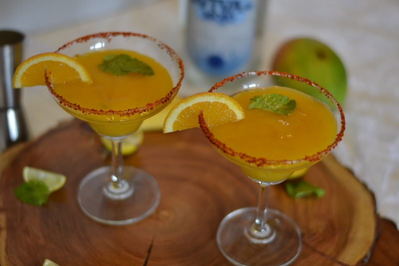 Mango Chili Margarita/ Fruity Margarita  with Mango and a hint of Tobasco