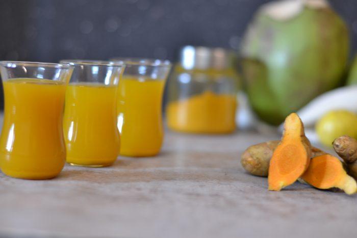 Elixir De Curcuma/Turmeric and Coconut water Health Shots for summers