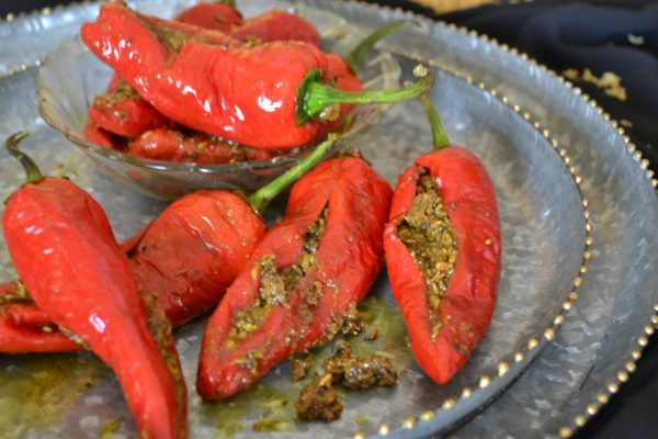 Red Chilli Pickle/ Bharwaan Laal Mirch ka achar/ Traditional stuffed Red Chili pickle