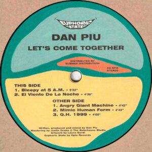 Dan Piu - Let's Come Together (EPHCS002)