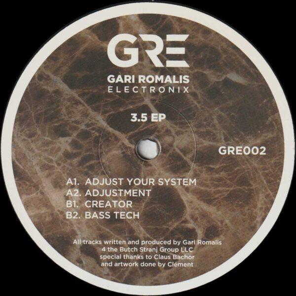 """Gari Romalis - 3.5 EP - 12"""" (GRE002)"""