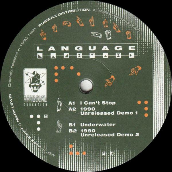 "Language - I Can't Stop / Underwater (Reissue) - 12"" (PE003)"
