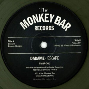 """Dadame – Escape (Incl. Fred P. Reshape) - 12"""" Grey Marbled Vinyl (TMBR002)"""