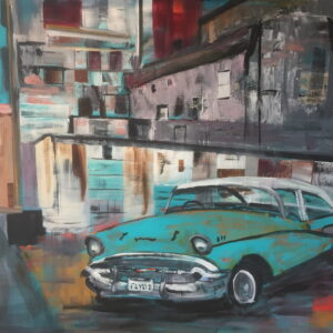 The turquoise Car