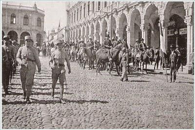 Army in Plaza de Armas circa 1930