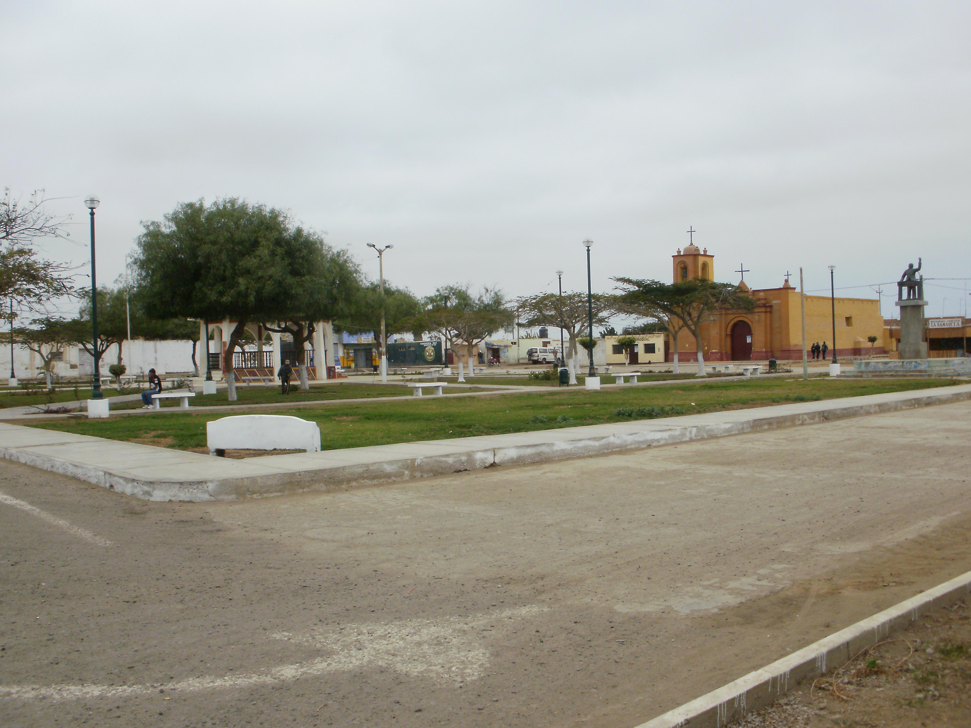 Chicama village square