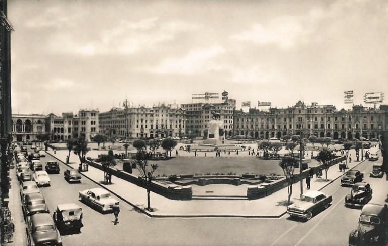 Plaza San Martín, Lima circa 1950