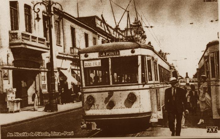 Lima tram, circa 1930