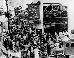 Great Depression: bank closures