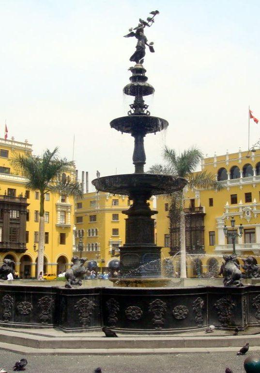 Lima: Plaza de Armas fountain