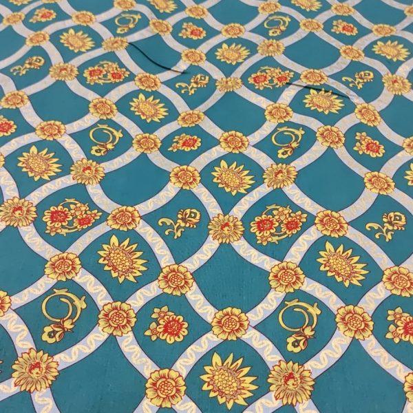 Cotton Lawn Chain Design Green