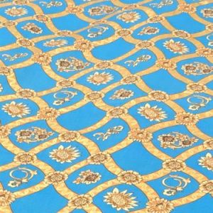 Cotton Lawn Chain Design Royal Blue