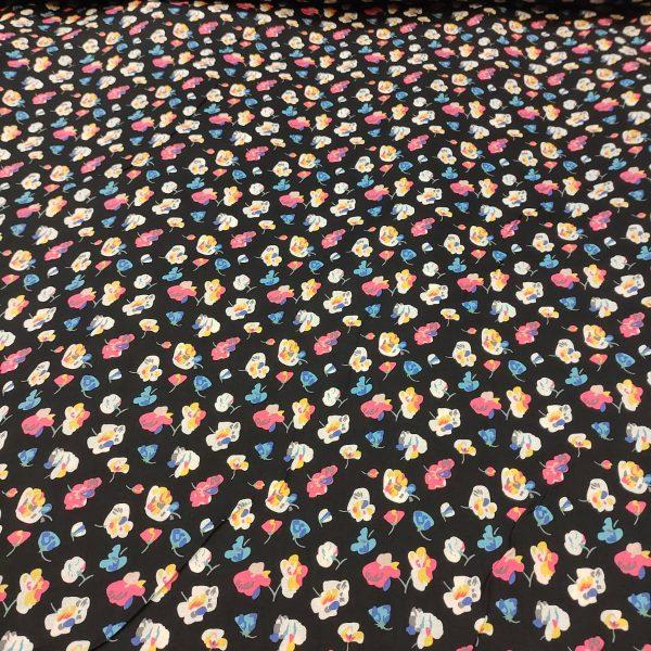 Cotton Lawn Lotus Black