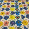 Cotton Lawn Oriental Flowers Yellow
