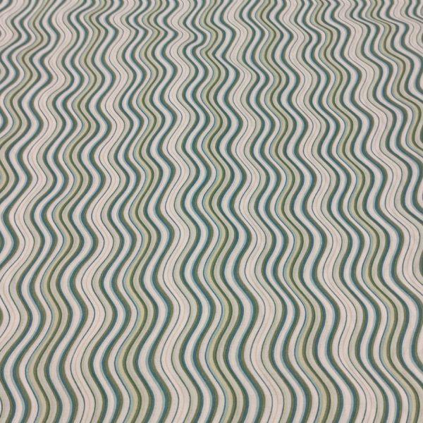 Cotton Lawn Waves Green