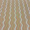 Cotton Lawn Light Orange Waves Pistachio
