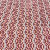 Cotton Lawn Waves Red