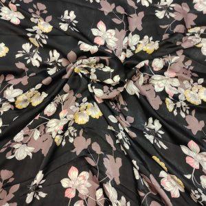 Cupro Fabrics Black