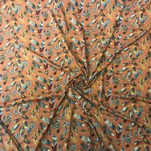 Spun Viscose Fabric Light Brown