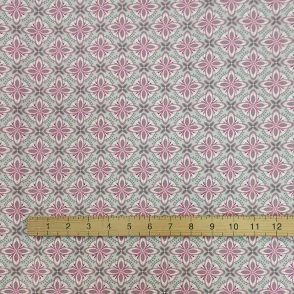 Cotton Poplin Astral and Lilac Pink