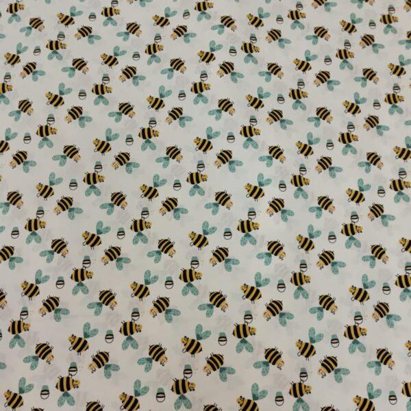 Cotton Poplin Bumble Bee Pistachio