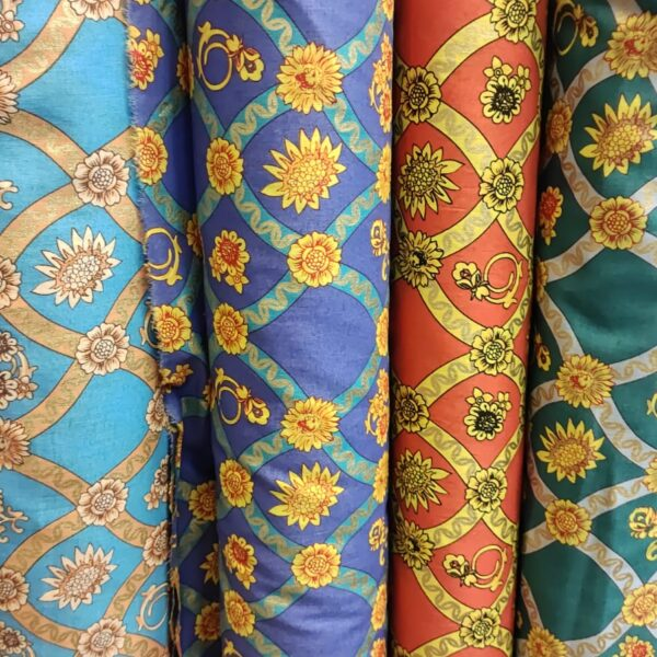 Cotton Lawn Fabrics Chain Design