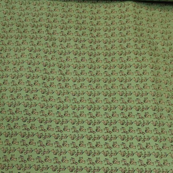 Cotton Poplin Zebra Green
