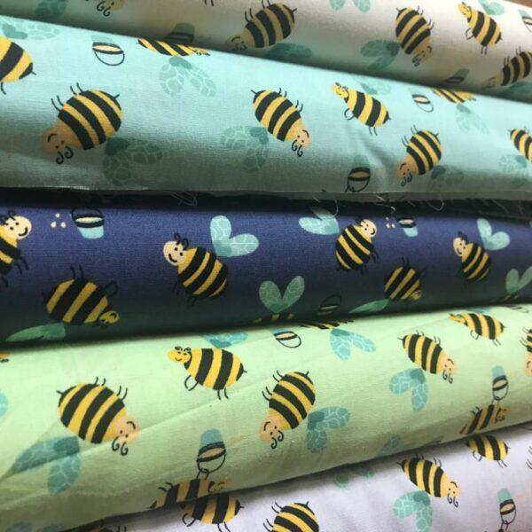 Cotton Poplin Bumble Bee