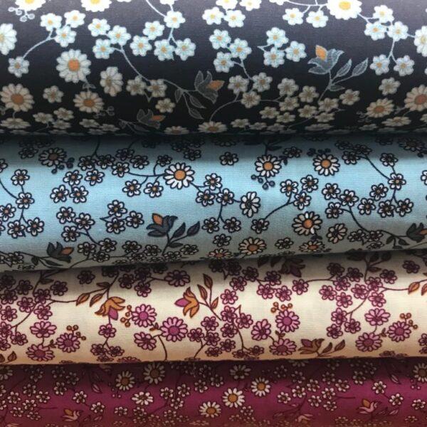 Cotton Poplin Dainty Flowers