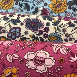 Cotton Poplin Flowers Bed