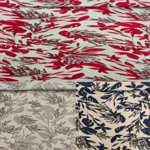 Floral Linen Viscose Fabric
