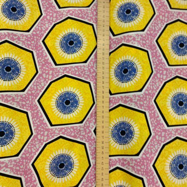 Batik Style Hot Pink Cotton Fabric