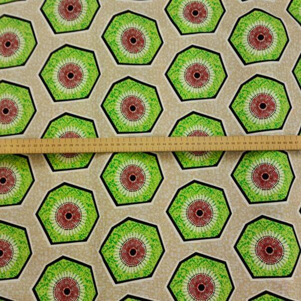 Batik Style Sandy yellow Cotton Fabric