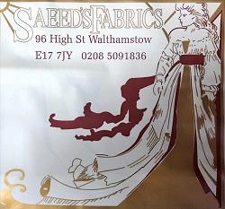 Saeeds Fabrics Walthamstow Shop