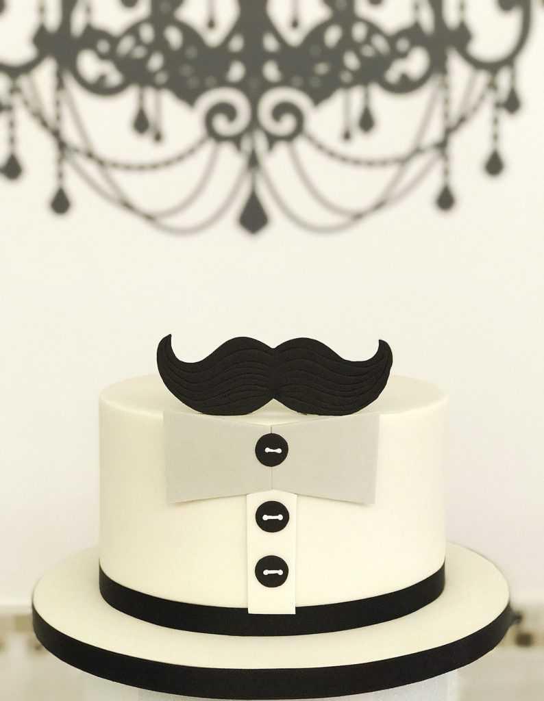 black and white celebration cake