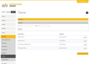 KnowledgeSmart Skills Audit Survey Interface