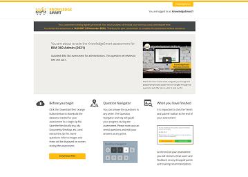 KnowledgeSmart Skills Assessment Interface