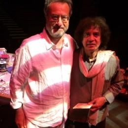 Dave Balen meets tabla master Zakir Hussain