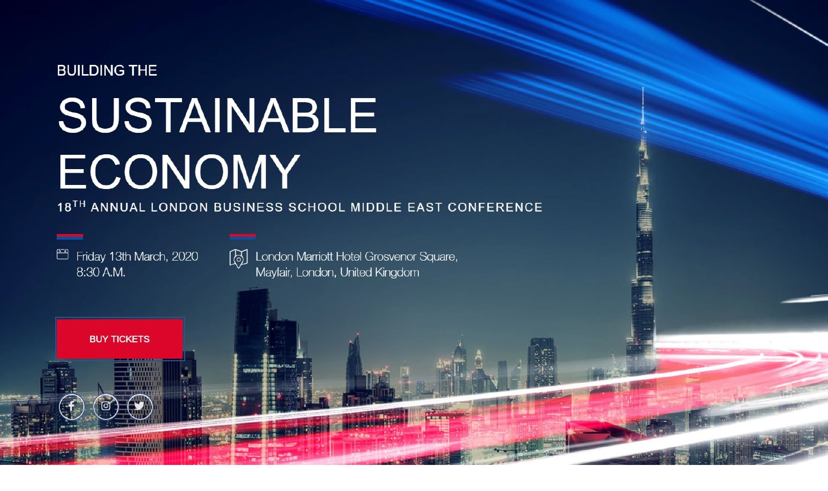 18th Annual Middle East Conference – London Business School LBS-Event