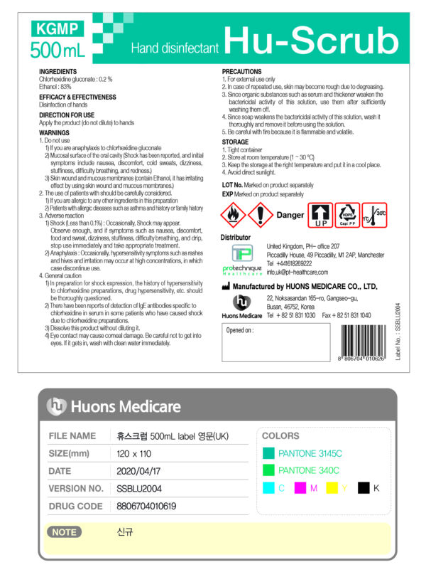 Protechique Healthcare to the rescue as urgent supplies are flown to the NHS HU-Scrub-Product-Label-600x818