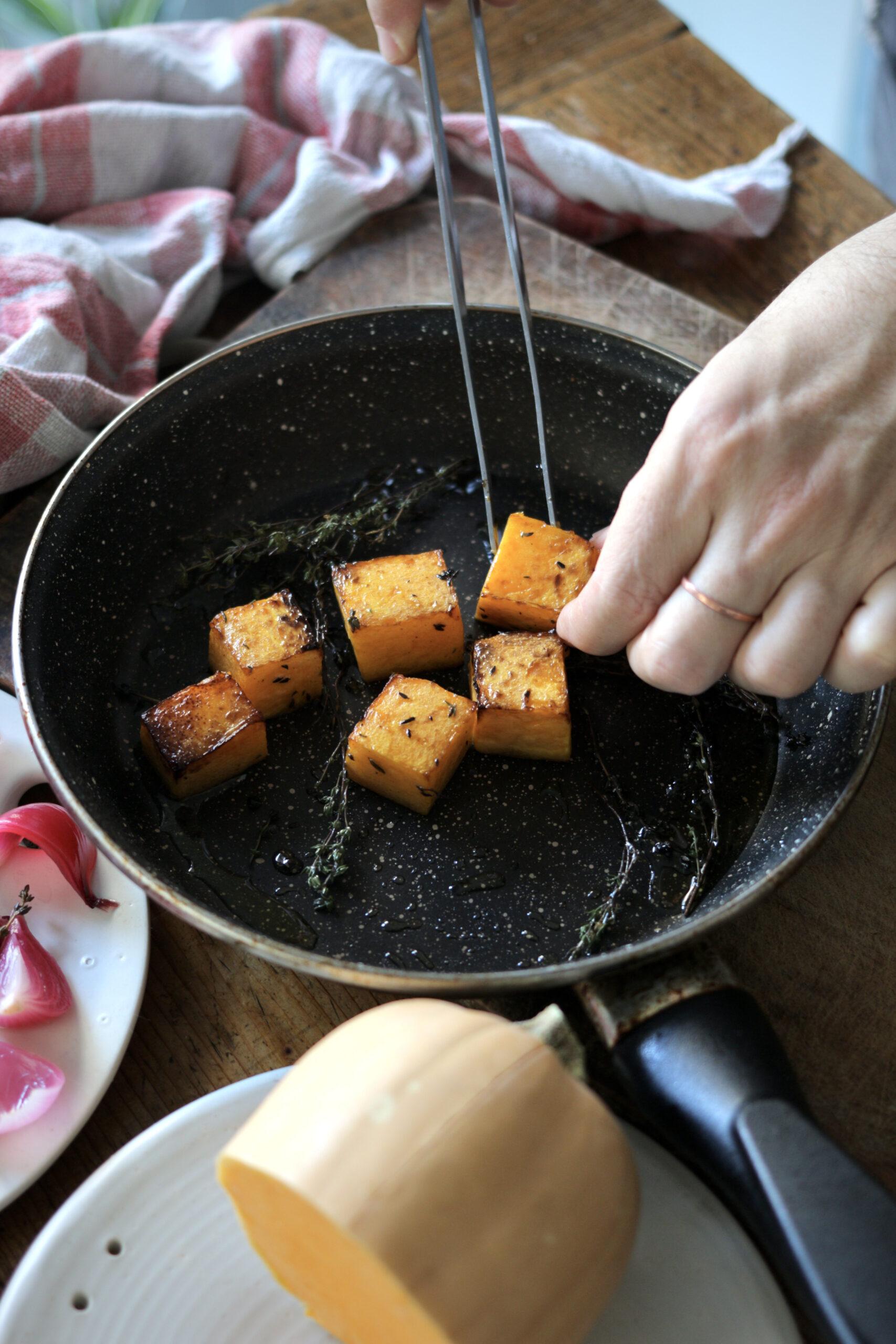 zucca arrostita (prima cottura)