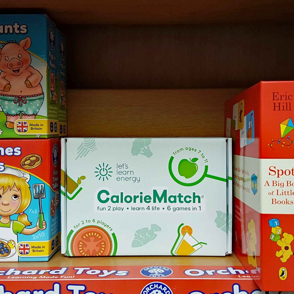 CalorieMatch Healthy Eating Games in store