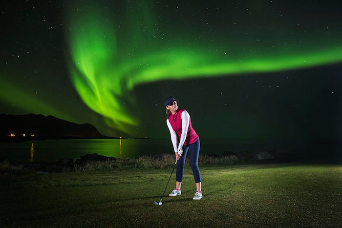 Golfing and the Northern Lights