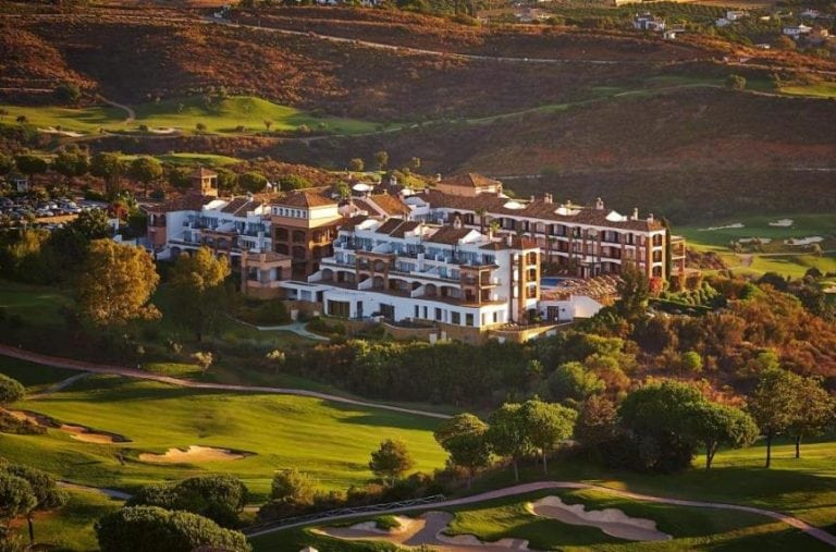 La Cala view of the clubhouse