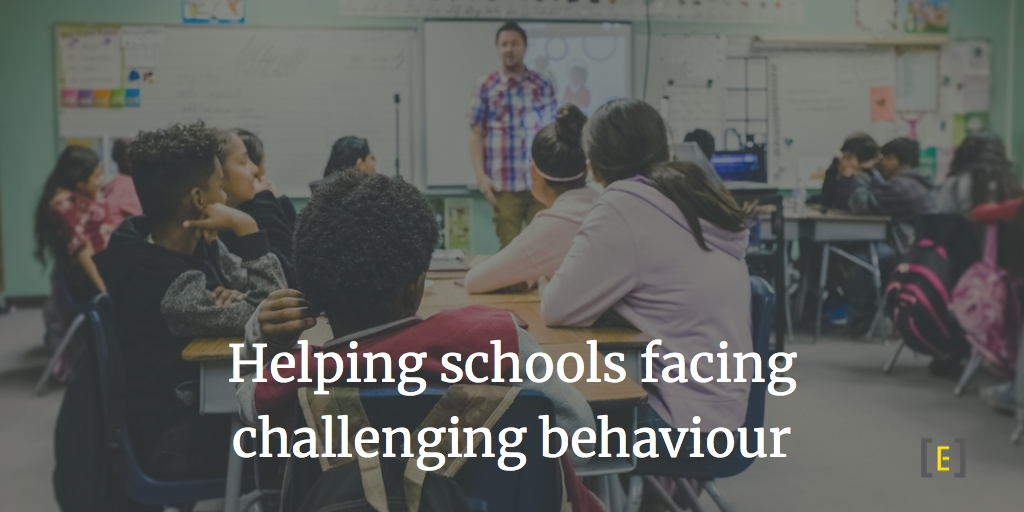 Helping schools facing challenging behaviour